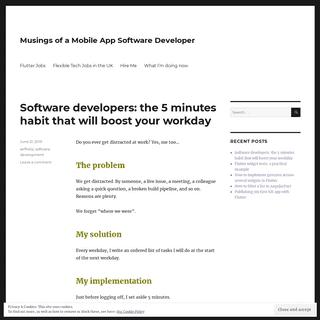 Musings of a Mobile App Software Developer -