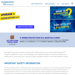 ArchiveBay.com - interceptorplus.com - Dog Dewormer, Monthly Chewable - Interceptor® Plus for Dogs