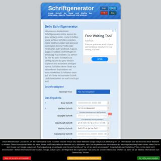Dein Schriftgenerator - schöne, coole Schriftarten für Facebook & Co