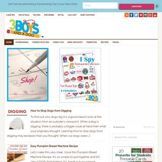 ArchiveBay.com - 3boysandadog.com - 3 Boys and a Dog – Homeschooling & Homemaking Tips for Busy Folks
