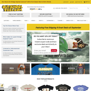 ArchiveBay.com - oldschooltees.com - Vintage Inspired T-Shirts, Classic Rock t-shirts, Old School Tees