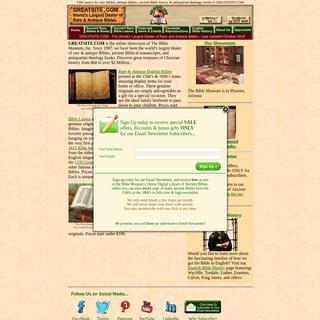 GREATSITE.COM- antique Bibles, rare Bibles, ancient Bible leaves