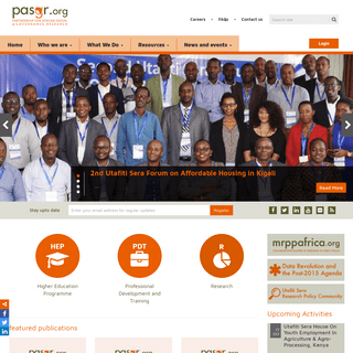 PASGR - Advancing research excellence for governance and public policy in Africa.