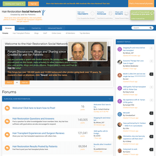 Forums - Hair Restoration Network - Community For and By Hair Loss Patients