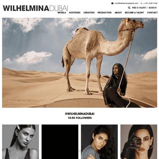 Wilhelmina Dubai - Top Model & Modelling Agency in Dubai, UAE