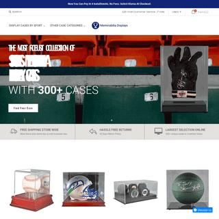 Memorabilia Displays - Sports Memorabilia Displays Cases