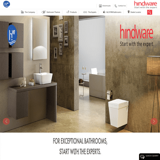 Hindwarehomes Sanitary Ware Products & Bathroom Fittings Online in India