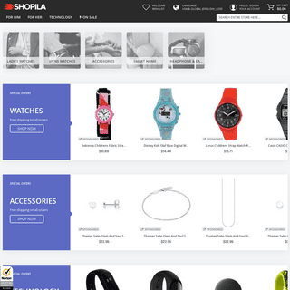 Shopila - Watches, Accessories, Home & Kitchen and more...