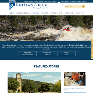 Fort Lewis College, a public, four year college in Durango, Colorado