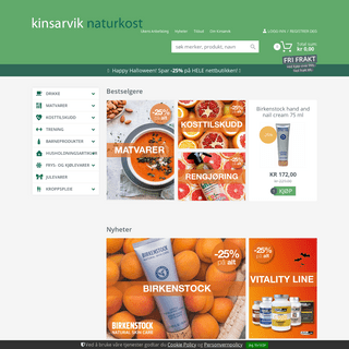 Helsekost, økologisk og vegetar mat - Alt til et sunnere liv - Kinsarvik naturkost