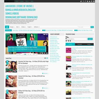Amusicbd - Store Of Music - Bangla,Hindi,Kolkata,English Songs,Videos Download,Software Download