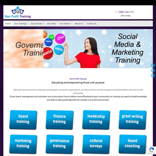 Non Profit Training - Training for Non Profit Organisations, Charities and Associations