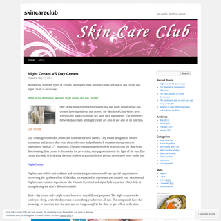 skincareclub - Just another WordPress.com site