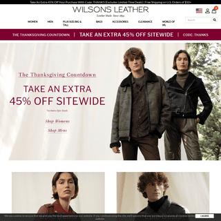 Wilsons Leather- Men's & Women's Leather Jackets, Handbags & More