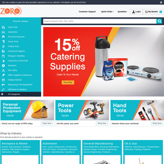 ArchiveBay.com - zoro.co.uk - Zoro UK - Experts in Hand Tools, Power Tools and PPE