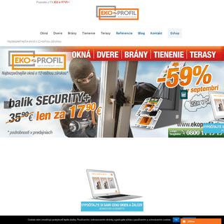 ArchiveBay.com - ekoprofil.sk - Plastové okná, dvere a doplnky – slovenský výrobca - ekoprofil.sk