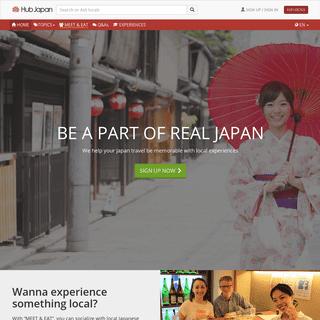 Hub Japan - Be a part of real Japan