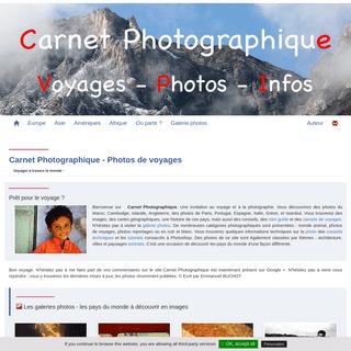 Accueil photographique par Carnet Photographique photos de voyages