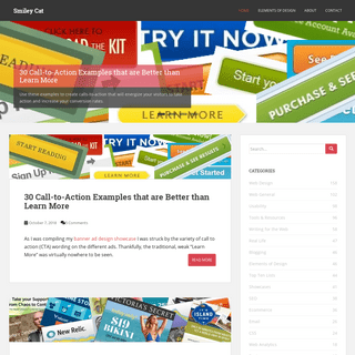 Smiley Cat - Web design & development, UX, ecommerce, mobile, product management, and more...