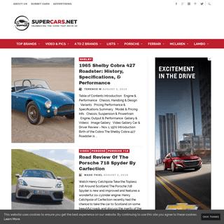 Exotics, Sports Cars, & Supercars - Pics, Reviews, & More
