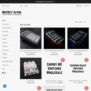 ArchiveBay.com - meckeyalpha.com - MecKey Alpha - Mechanical Keyboards and Accessories