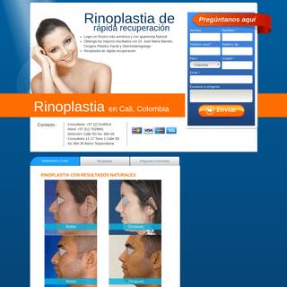 Costo Rinoplastia, Precio Rinoplastia en Cali, Colombia