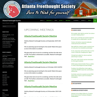 Atlanta Freethought Society - Dare to Think for Yourself!