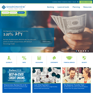 ArchiveBay.com - sharonview.org - Sharonview Federal Credit Union - NC & SC - Loans Mortgages Checking