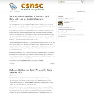 ArchiveBay.com - kirloskaranalytics.com - CSNSC – For a Safe and Strong California