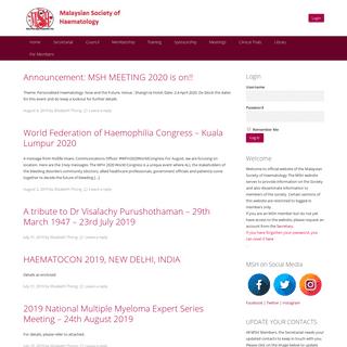 MSH - Malaysian Society of Haematology