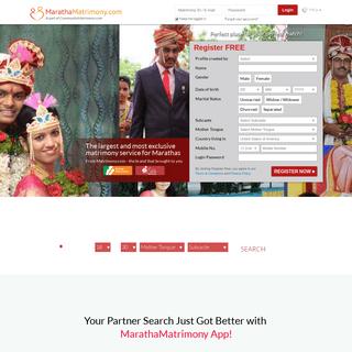 ArchiveBay.com - marathamatrimony.com - Maratha Matrimony - The No. 1 Matrimony Site for Marathas - MarathaMatrimony.com
