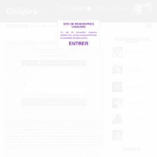 Rencontres Cougars - Plans cul femme mure et MILF