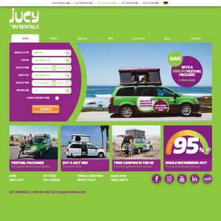 ArchiveBay.com - jucyusa.com - Mini RV Rental Specialists - JUCY Rentals