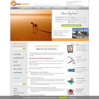 Op reis en vakantie met je hond- vakantiehuizen, hotels, kastelen & informatie - DogsIncluded