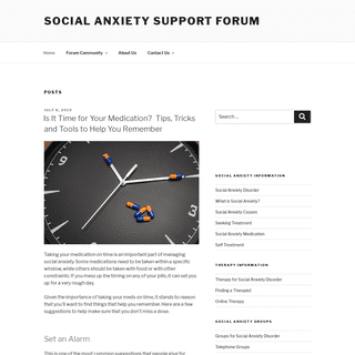 Social Anxiety Support Forum