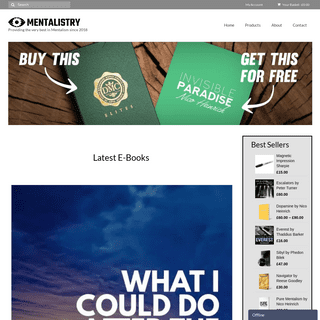 Mentalistry - Providing quality material to Mentalists across the globe