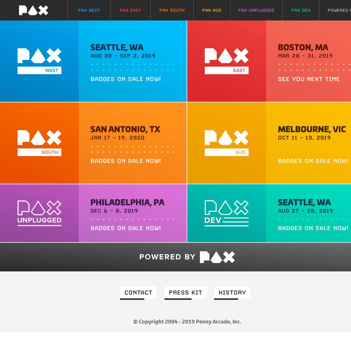 pax west 2020 tickets