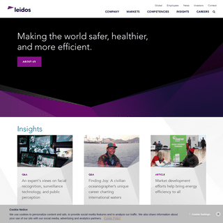 Leidos- Innovative Solutions through Information Technology, Engineering and Science