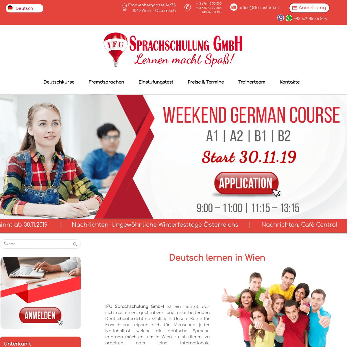 ArchiveBay.com - ifu-institut.at - Deutsch lernen in Wien- Niveaustufen A1, A2, B1, B2, С1, С2