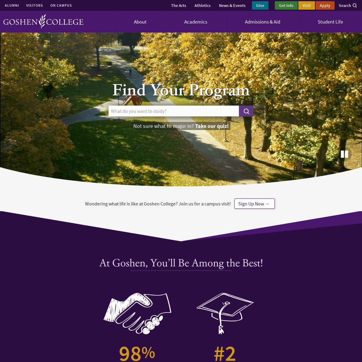 Goshen College - A Christian Liberal Arts College in Indiana
