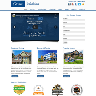 Residential and Commercial Roofing Services for the Hampton Roads Area of VA -