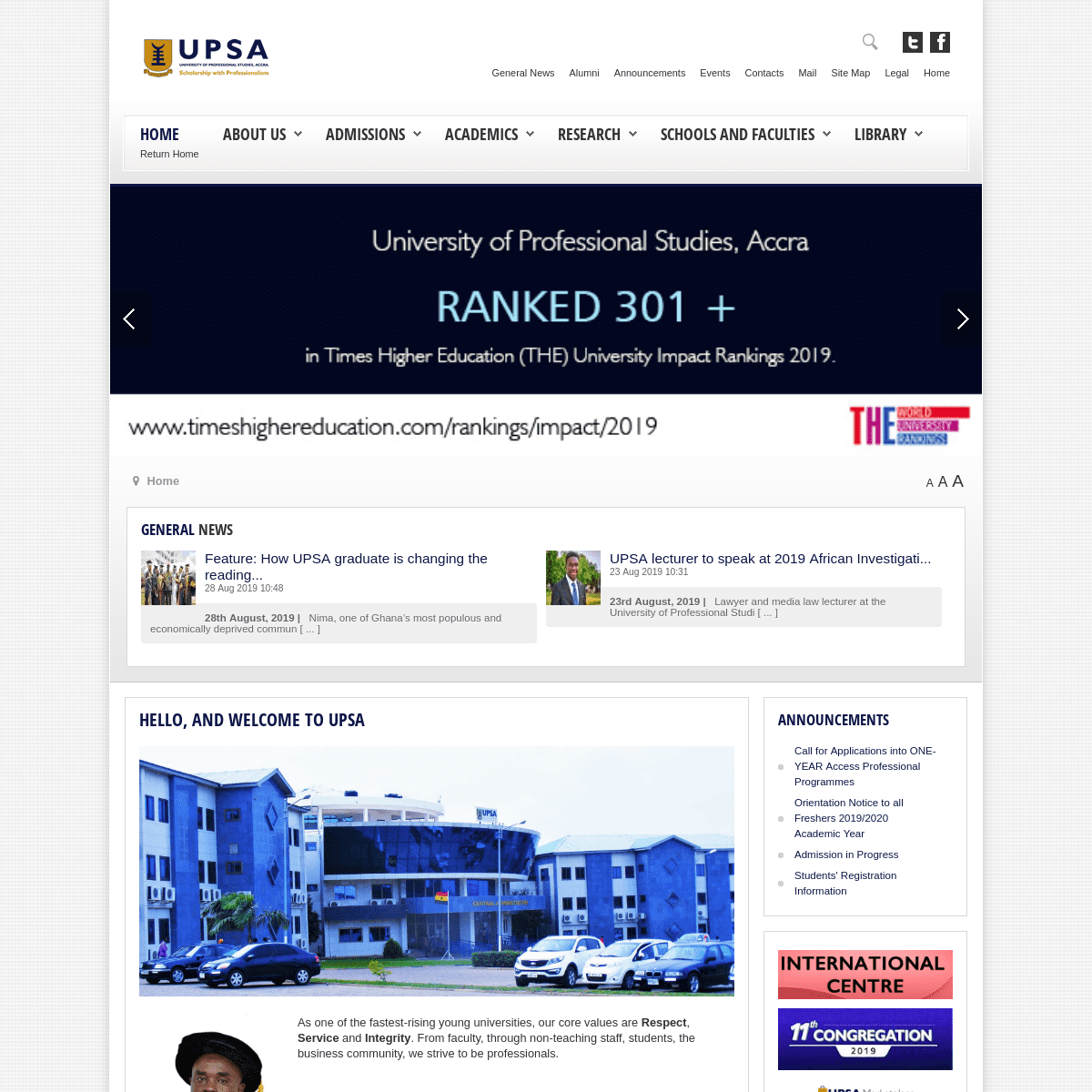 Welcome to UPSA - University of Professional Studies, Accra upsa ...