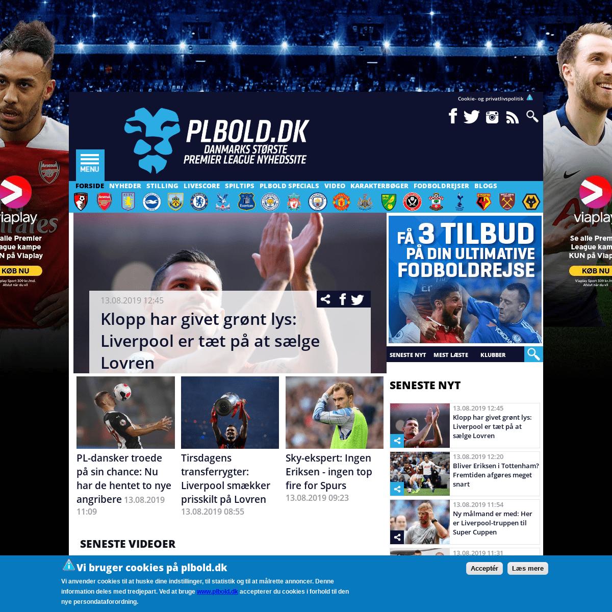 PLBOLD.DK - Danmarks største Premier League nyhedssite