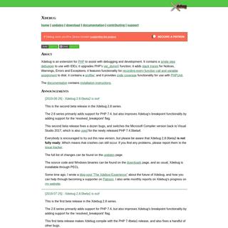 Xdebug - Debugger and Profiler Tool for PHP