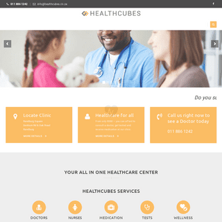 Healthcubes – Your affordable,convenient all in one Medical centre - Clinic, doctors, medical tests, dentists