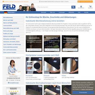 Onlineshop rund ums Blech - Maschinenbau Feld
