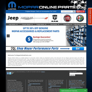 Buy Mopar Car Truck Parts - Genuine Discounted Mopar OEM Auto Parts & Accessories Online - Wholesale Chrysler, Dodge, Jeep Parts