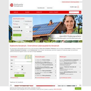 Strom, Gas, Wasser, Bus, Bäder, Nettedrom - Stadtwerke Osnabrück