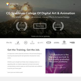 CG Spectrum Online School of Animation, VFX, Digital Art & Game Design