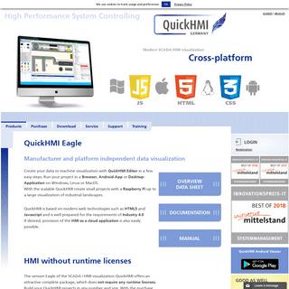 QuickHMI professional SCADA- - HMI- software S7, Modbus, Twincat, OPC, KNX-EIB. Allen Bradley, Rockwell, MQTT - QuickHMI (en)